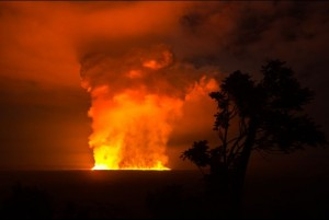 Nyamulagira vulkaan op uitbarsten