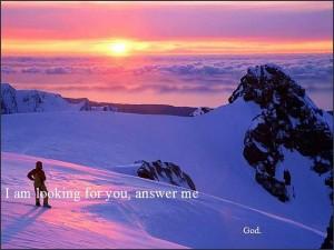 God zegt, Waar bent u