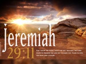 Jeremia 29 vers 11 hoopvolle toekomst