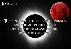 Joël 2, vers 31 bloedrode Maan