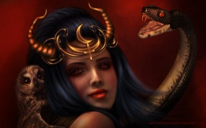 Lilith - beeldschone demon, satans bruid der hel