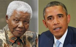 Nelson Mandela en Obama