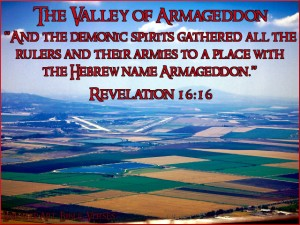 Openbaring 16, vers 16 Armageddon