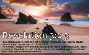 Revelation 3:2-3