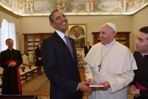 antichrist Obama en valse profeet paus Franciscus
