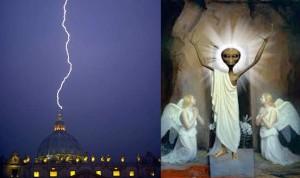 bliksem Vaticaan - gevallen engelen