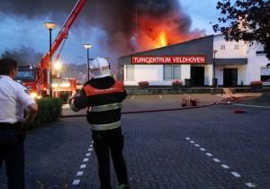 brand tuincentrum Veldhoven