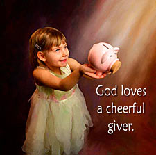 Image result for The cheerful giver pictures