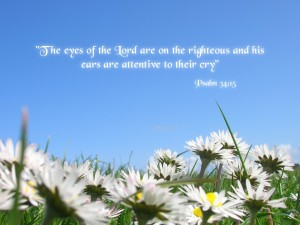 de ogen van de Heer zijn op de rechtvaardigen