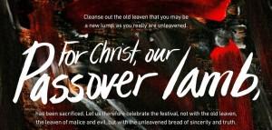 ongezuurd brood van reinheid en waarheid - pasen