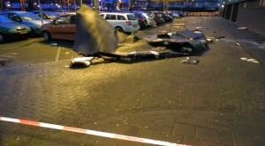 veel schade door storm Nederland o.a.