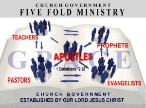 vijfvoudige bediening in de kerken