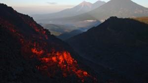 vulkaan Fuego uitbarsting