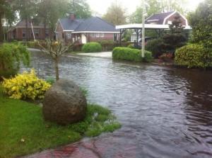 zware regenval Nederland