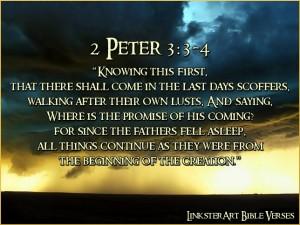 2 Peter 3, verse 3-4