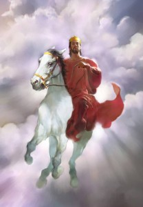 rider white horse