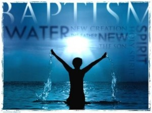 baptism by immersion - new creation