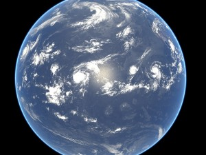 earth - four storms hurricanes