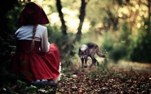 Roodkapje en de boze wolf