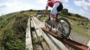 racing bike stunt