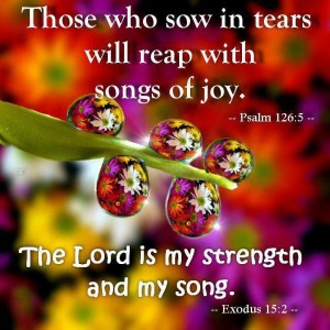Psalm 126, verse 5 those who sow in tears