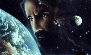 Jesus crying for the world