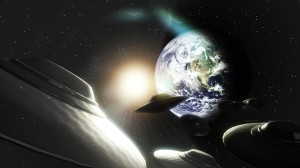 UFOs in space - earth