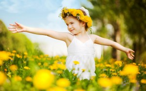 cute little girl with flowers2
