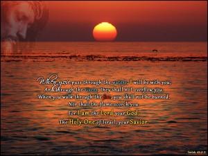 Isaiah 43, verse 2 and 3