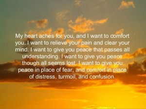 allow yourself to be comforted