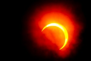 Partial solar eclipse is not a coincidence