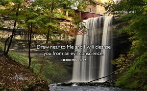 Hebrews 10, verse 22