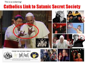 satanic signs and pope Francis - Illuminati
