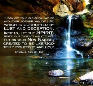 Ephesians 4, verse 22-24