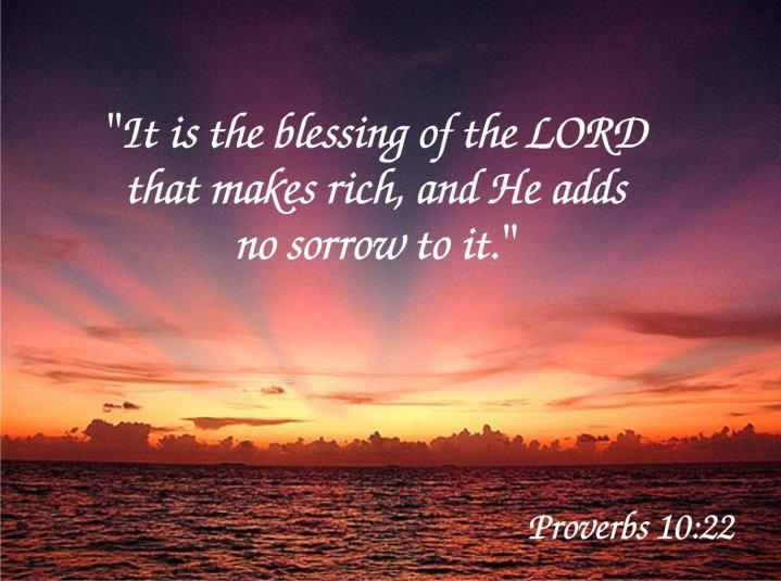 spreuken 10 22 Zo vergaat het de rechtvaardige, en zo vergaat het de goddeloze! • spreuken 10 22