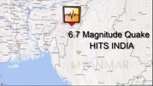 heavy earthquake hits India