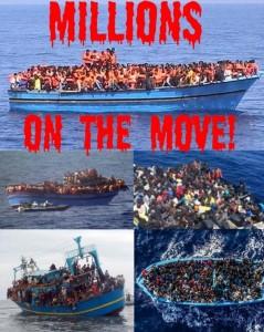 millions on the move - invasion migrants
