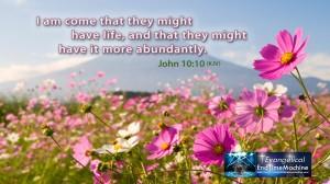 John 10, verse 10 edited