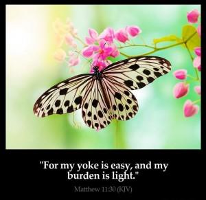 Matthew 11, verse 30