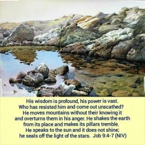 Job 9, verse 4-7