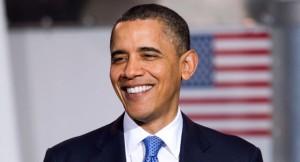 Obama mit US Flagge