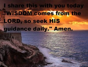 wisdom comes from the Lord