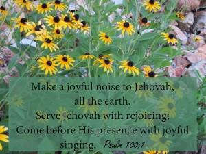 Psalm 100, verse 1
