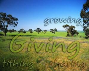 tithing - giving