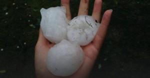 huge hailstones the Netherlands June 23, 2016