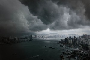 HONG KONG-WEATHER-STORM PL01