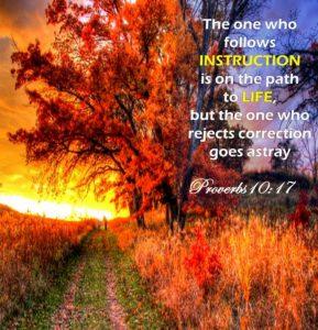 Proverbs 10, verse 17