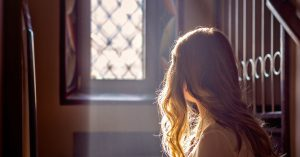 lonely in church girl